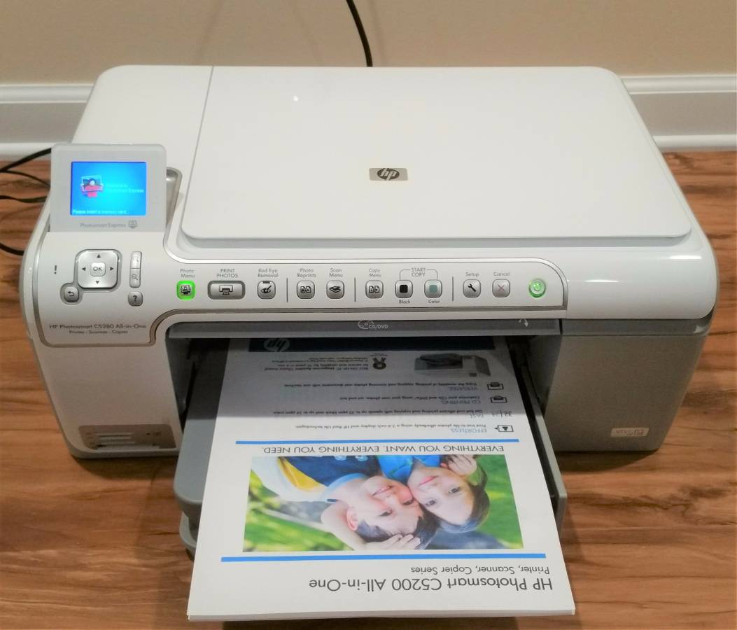 HP Photosmart C5280 All-In-One Inkjet Printer
