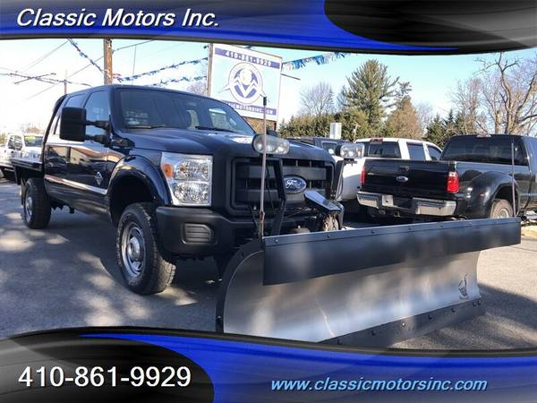 2011 Ford F-350 CrewCab XL SNOW PLOW/FLAT BED 4x4   LOW MILES!!!!